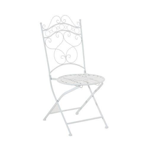CLP Gartenstuhl »Indra« handgefertigter Gartenstuhl aus Eisen, weiß