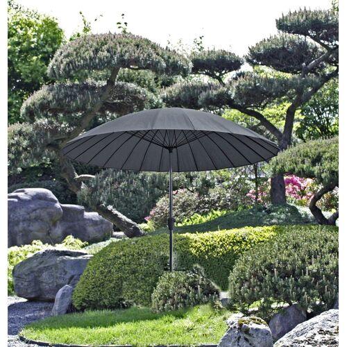 Garden Pleasure Sonnenschirm »Sonnenschirm mit 24 Streben, anthrazit«, Packung, mit 24 Streben