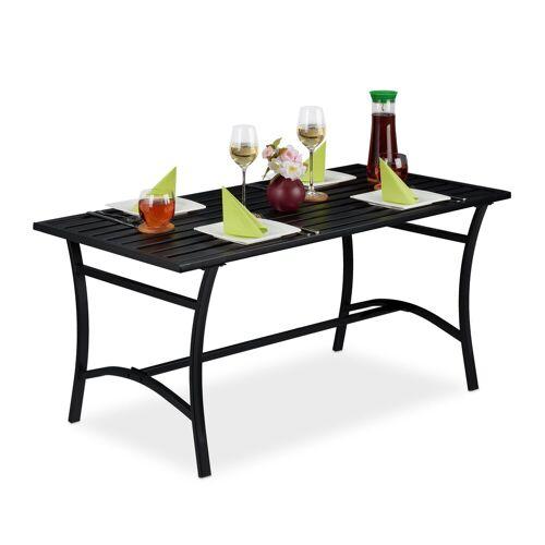 relaxdays Gartentisch »Gartentisch rechteckig schwarz«