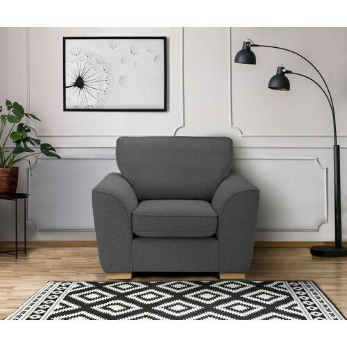DELAVITA Sessel »Savoy«, gemütlicher Sessel,k in 2 Bezugsqualitäten, grau
