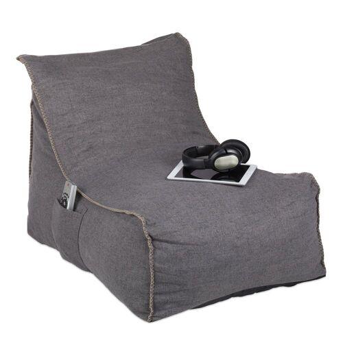 relaxdays Sitzsack »Sitzsack mit Lehne«