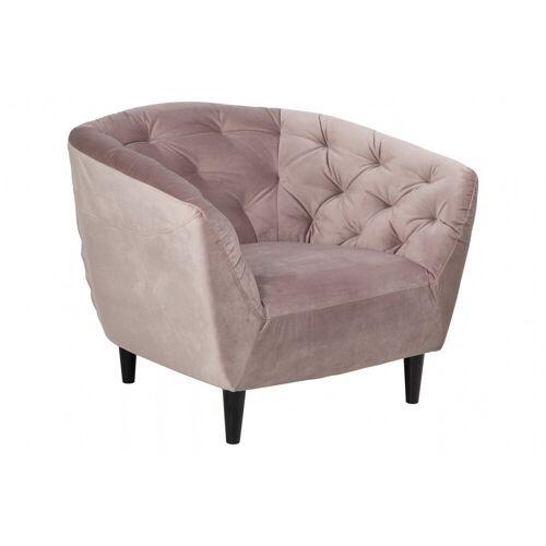 ebuy24 Relaxsessel »Rian Sessel in rosa mit schwarzen Beinen.«