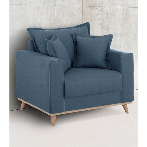 Home affaire Sessel »Edina«, im skandinavischem Stil, blau