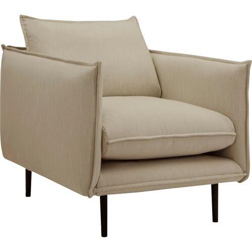 INOSIGN Sessel »Somba«, mit dickem Keder und eleganter Optik, beige
