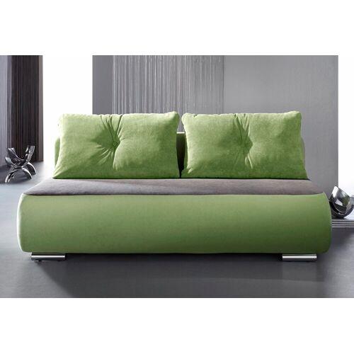 INOSIGN Schlafsofa »Fun«, grün-grau   grau