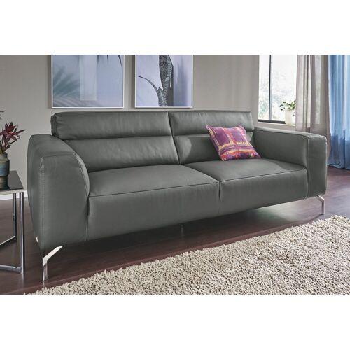 CALIA ITALIA 3-Sitzer »Soho«, in zwei Lederqualitäten, grau