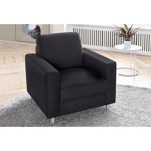 TRENDMANUFAKTUR Sessel, schwarz