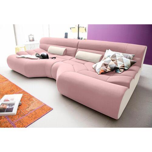 TRENDMANUFAKTUR Big-Sofa, rosa-creme