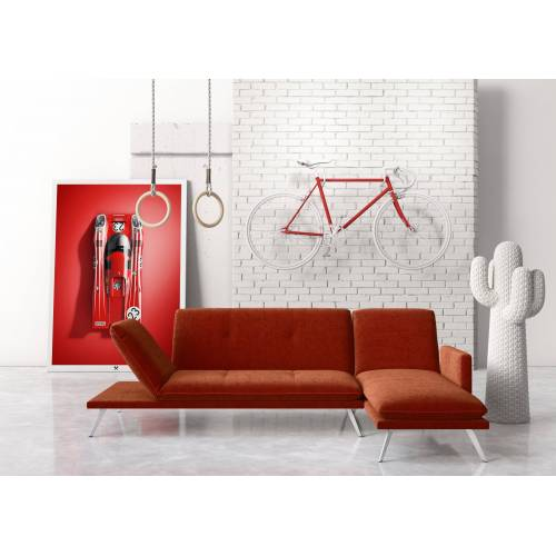 machalke® Ecksofa »wings«, rot ELOY