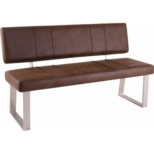 Sitzbank, Breite 140 cm, Vintage braun