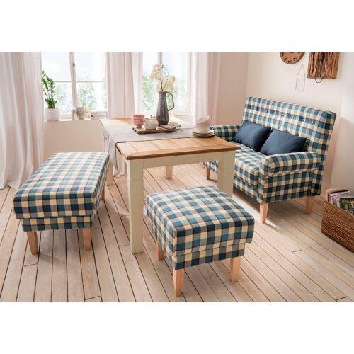 Home affaire Küchensofa »Scalea«, mit Federkern, inkl. Zierkissen, blau