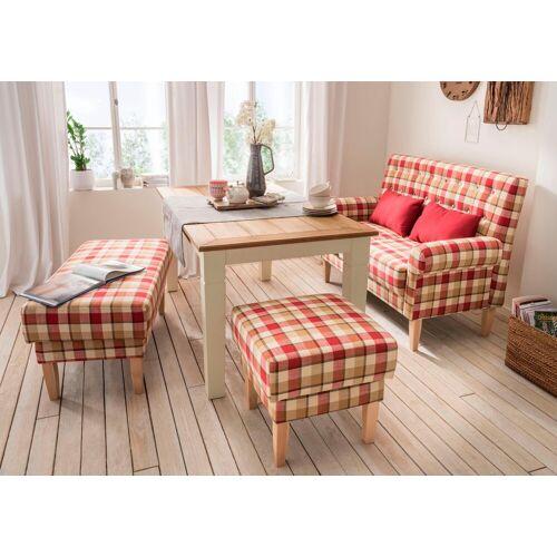 Home affaire Küchensofa »Scalea«, mit Federkern, inkl. Zierkissen, rot