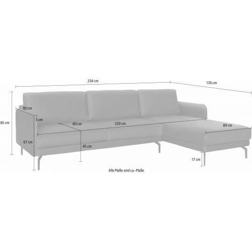 hülsta sofa Ecksofa »hs.450«, mit schmaler Armlehne, beige