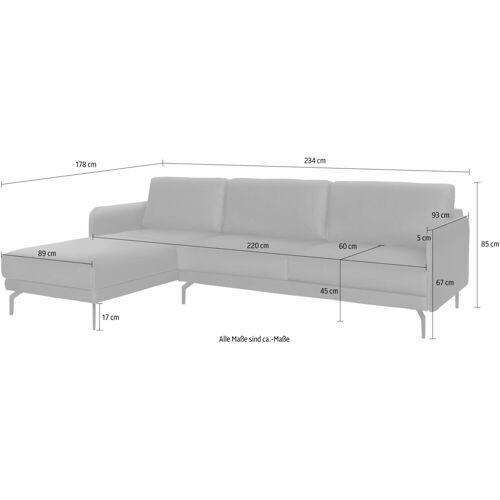 hülsta sofa Ecksofa »hs.450«, mit schmaler Armlehne, perlweiß