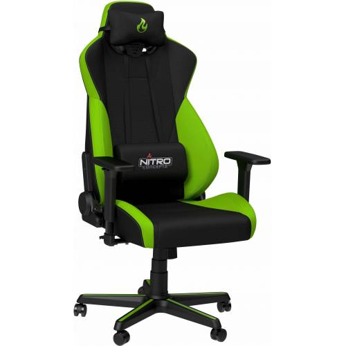 NITRO CONCEPTS Gaming-Stuhl »S300 Gaming Chair« Bürostuhlzertifizierung DIN EN 1335, grün