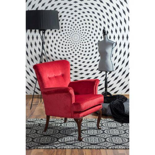Max Winzer® Sessel »Barbie«, im Barockstil, mit Ziernagelband, rot