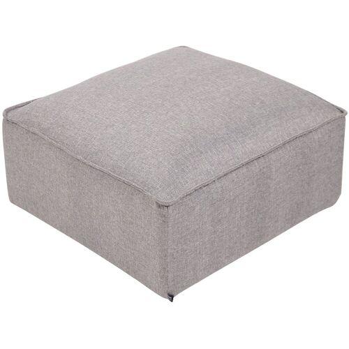 CLP Sitzwürfel »Nantes«, Samt oder Stoff, grau