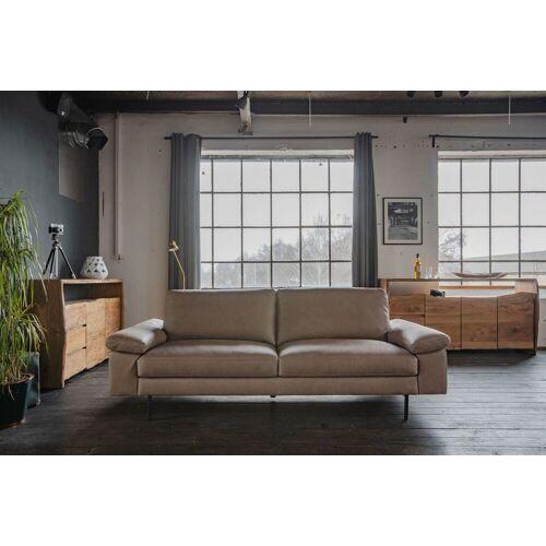 KAWOLA Sofa »ELVIRA«, Ledersofa verschiedene Größen u. Farben, taupe