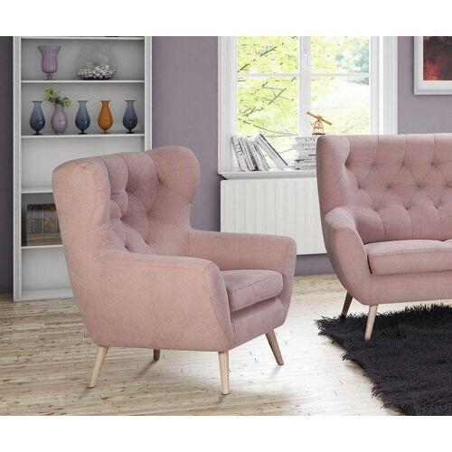 Home affaire Sessel »VOSS«, mit moderner Knopfheftung, rose