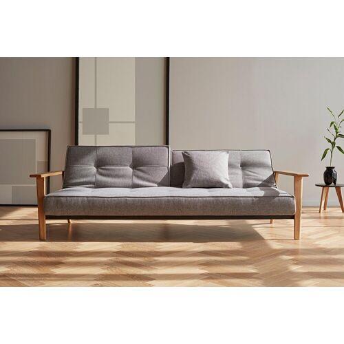 INNOVATION™ Schlafsofa »Splitback«, mit Frej Arm in Eiche, in skandinavischen Design, grey