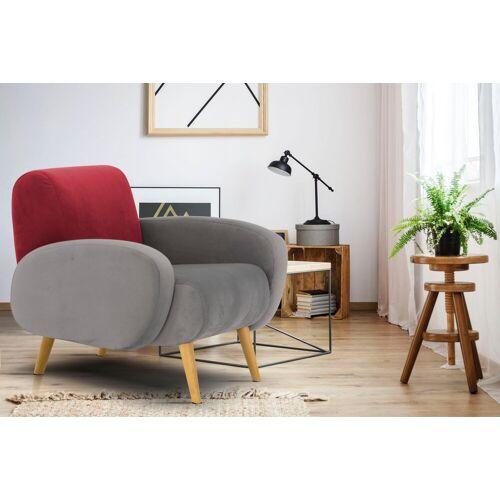 Home affaire Sessel »Tox«, in außergewöhnlicher stylischer Optik, grau-rot