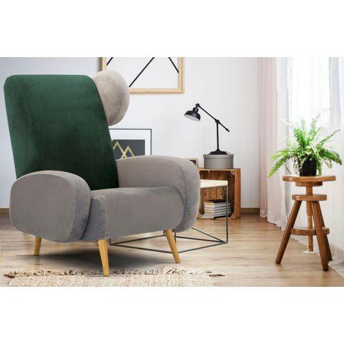Home affaire Sessel »Gox«, in außergewöhnlicher stylischer Optik, grau-grün