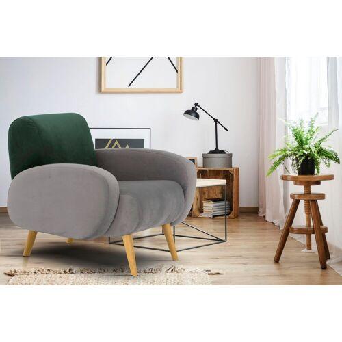 Home affaire Sessel »Tox«, in außergewöhnlicher stylischer Optik, grau-grün