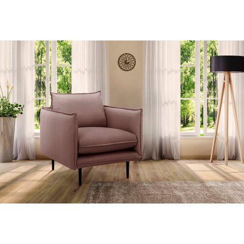 INOSIGN Sessel »Somba«, mit dickem Keder und eleganter Optik, beere