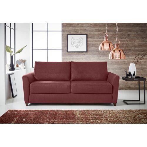 Places of Style Schlafsofa »Dallas«, Dauerschlaffunktion, mit Lattenrost und Matratze, rot