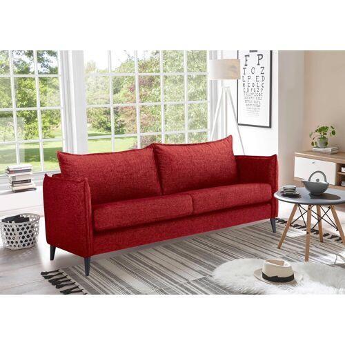 andas 3-Sitzer »Leo«, in hochwertiger Verarbeitung, rot