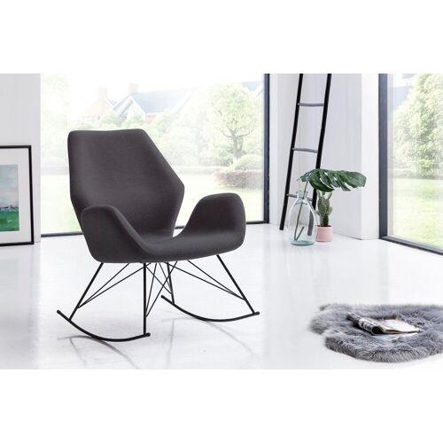 SalesFever Schaukelsessel, mit ergonomischer Sitzfläche, anthrazit