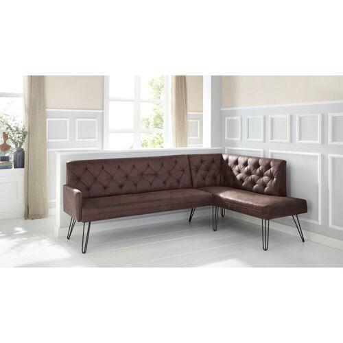 exxpo - sofa fashion Eckbank »Doppio«, chocco