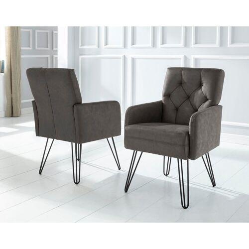 exxpo - sofa fashion Sessel »Doppio«, antrazith