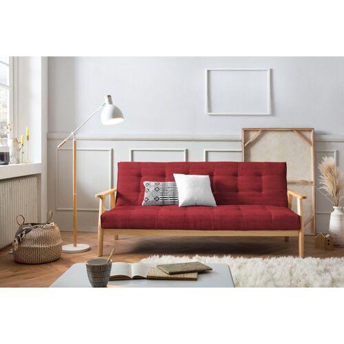 SalesFever Schlafsofa, Mit 60°Relax- und Schlaffunktion, Rot