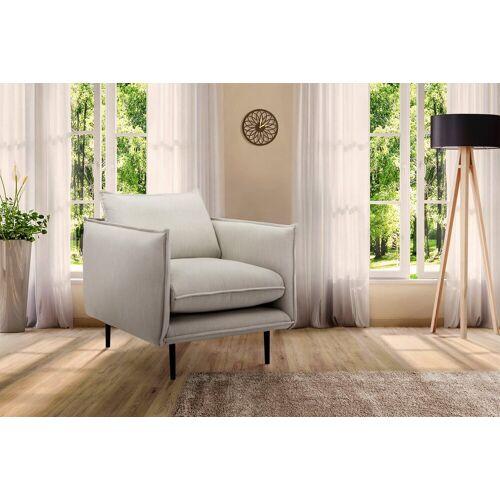 INOSIGN Sessel »Somba«, mit dickem Keder und eleganter Optik, natur