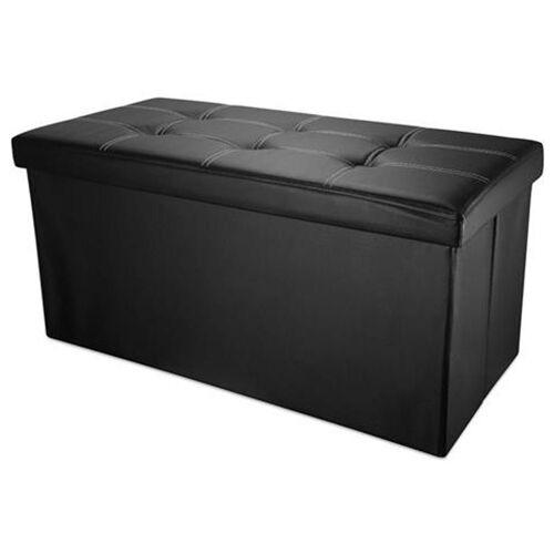 Intirilife Sitzbank »Faltbare Sitzbank 78x38x38 cm Würfel Truhe Box Fußablage«, Faltbare Sitzbank 78x38x38 cm, Schwarz