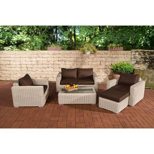 CLP Gartenmöbelset »Gartengarnitur Madeira 2-1-1«, Gartenmöbel-Set mit Polsterauflagen, perlweiß