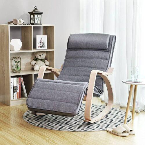 SONGMICS Sessel »LYY11G«, Sessel Schaukelstuhl Schwingstuhl Relaxstuhl grau