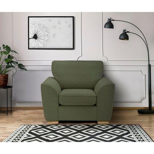 DELAVITA Sessel »Savoy«, gemütlicher Sessel,k in 2 Bezugsqualitäten, grün