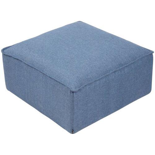 CLP Sitzwürfel »Nantes«, Samt oder Stoff, blau
