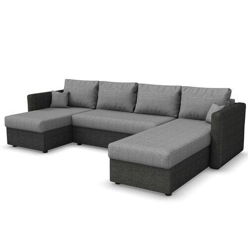 Vicco Wohnlandschaft »XXL Ecksofa mit Schlaffunktion Grau - Schlafsofa Sofa Couch«