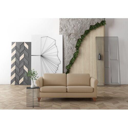 machalke® 2,5-Sitzer »amadeo«, Ledersofa mit geschwungenen Armlehnen, Breite 198 cm, taupe HUNTER