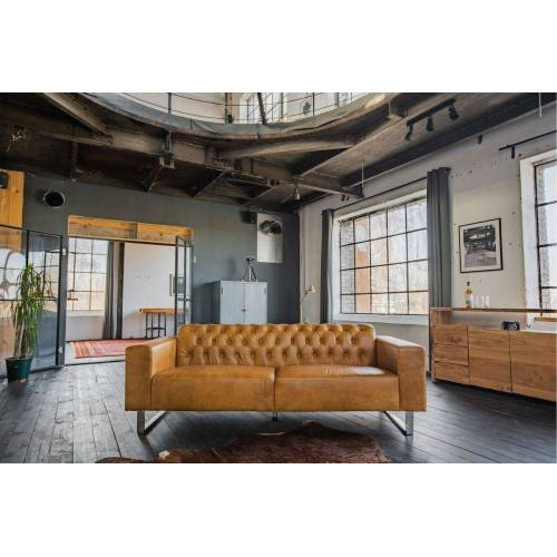 KAWOLA Sofa »NILO«, Ledersofa 3-Sitzer Leder versch. Farben, cognac