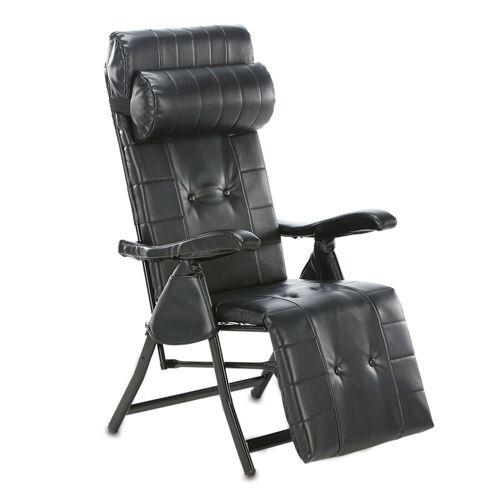 aktivshop Relaxsessel »Multi-Positions-Komfort-Liegestuhl, Schwarz«, Schwarz
