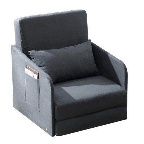 HOMCOM Sessel »Klappbarer Schlafsessel mit 2 Seitentaschen«