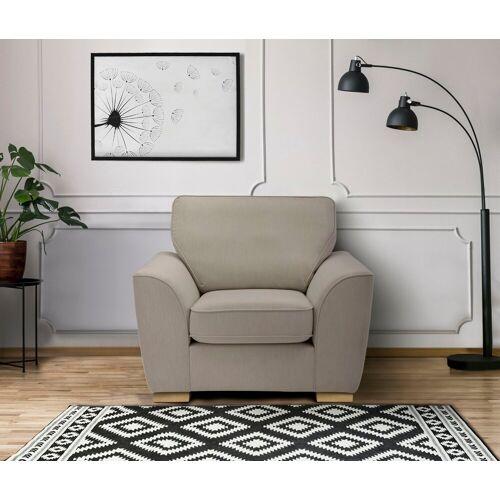 DELAVITA Sessel »Savoy«, gemütlicher Sessel,k in 2 Bezugsqualitäten, beige