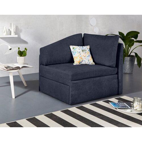 INOSIGN Relaxliege »Tiny Delta Relax-Recamiere«, aus Recamiere im Handumdrehen ein Schlafsofa incl. Lattenrost, blau