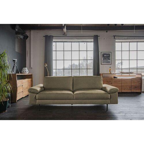 KAWOLA Sofa »ELVIRA«, Ledersofa verschiedene Größen u. Farben, olivgrün