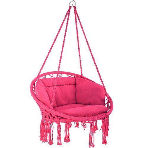 tectake Hängesessel »Hängesessel Grazia« (1-St), pink
