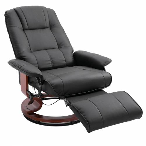HOMCOM Relaxsessel »Relaxsessel mit rundem Holzfuß«